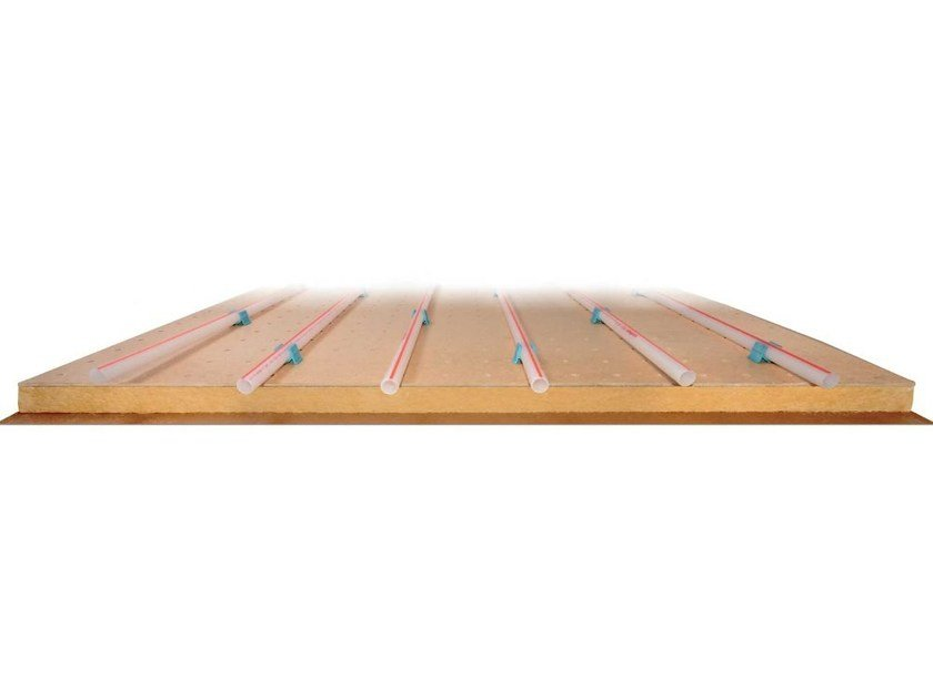 Wood fibre Radiant floor panel ECOPLUS by Eurotherm