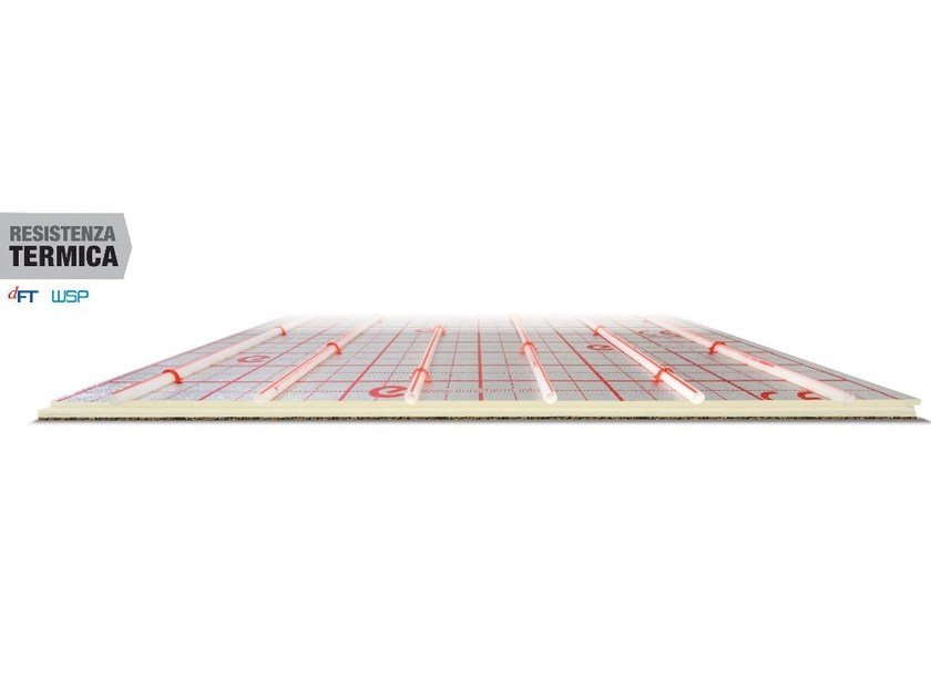 Expanded polyurethane Radiant floor panel EUROTOP by Eurotherm