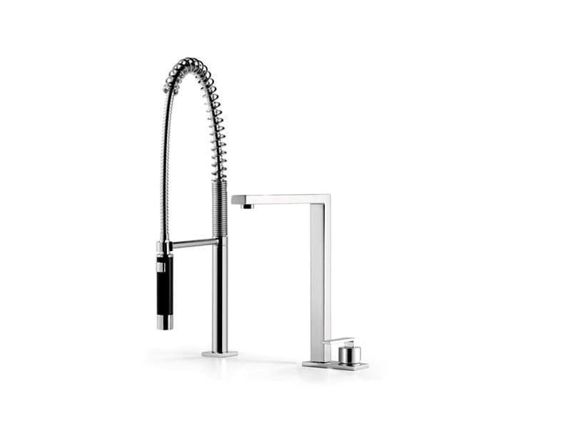Kitchen mixer tap with spray 32 843 680 | Kitchen mixer tap with spray by Dornbracht