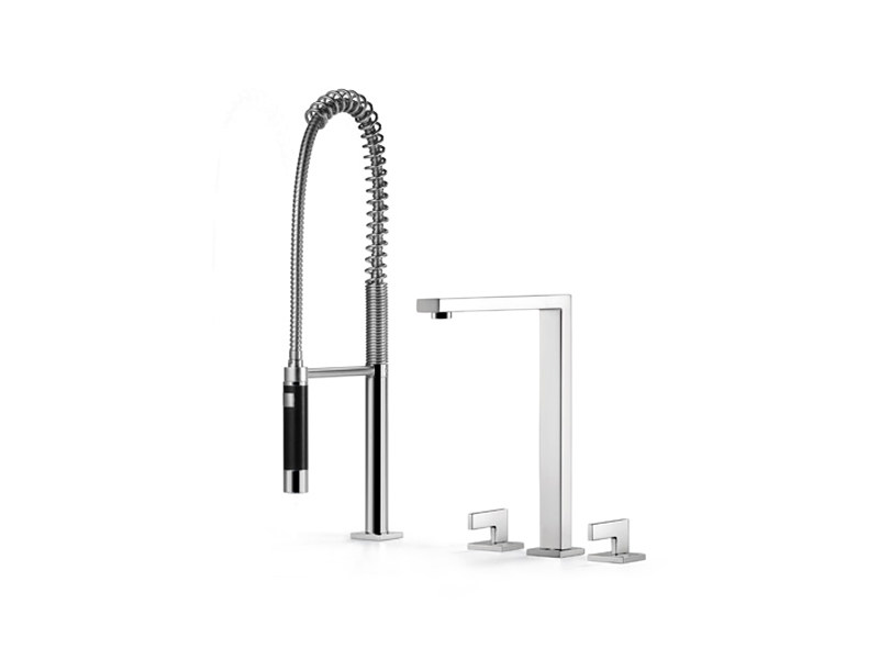 3 hole kitchen tap with spray 20 810 680 | Kitchen tap with spray by Dornbracht