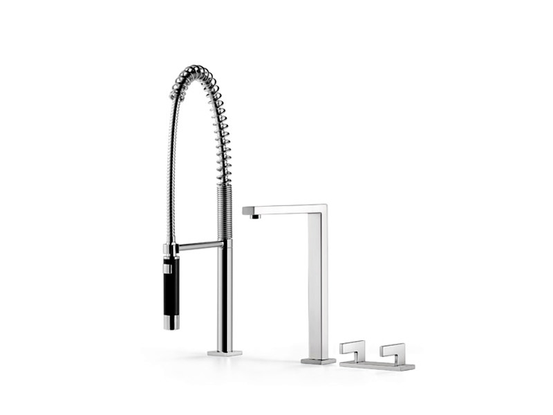 3 hole kitchen tap with spray 20 830 680 | Kitchen tap with spray - Dornbracht