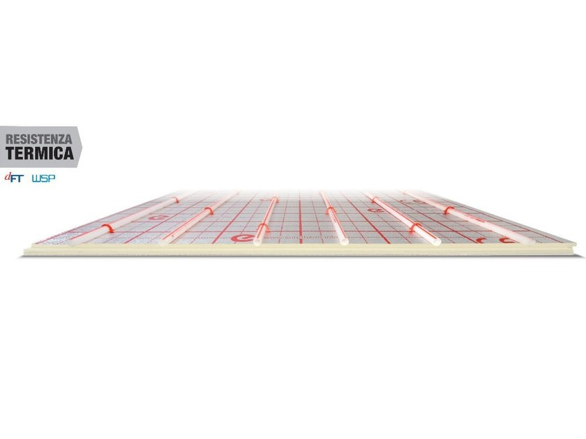 Expanded polyurethane Radiant floor panel EUROSUPER - Eurotherm