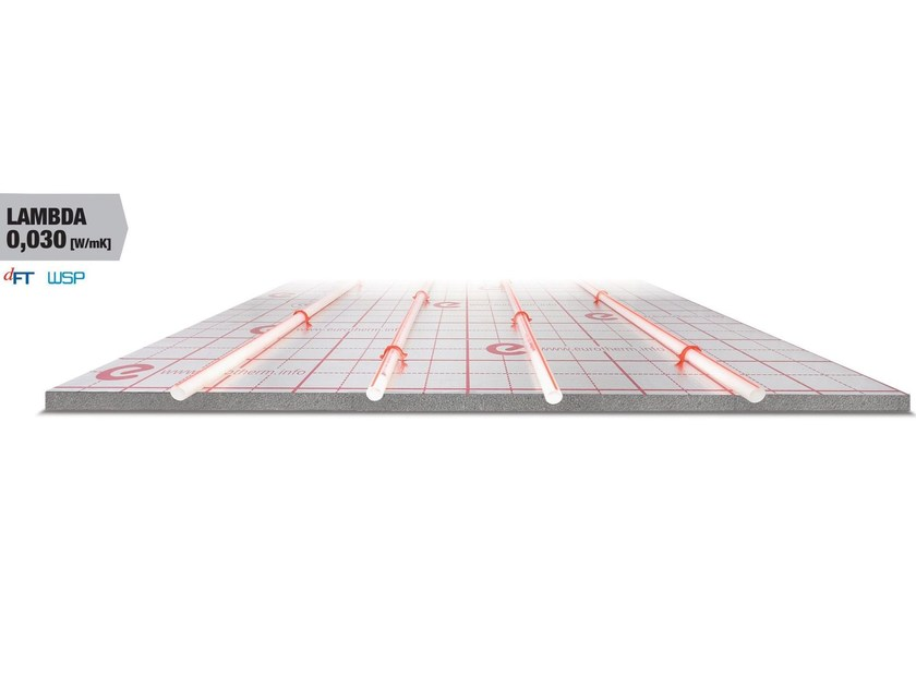 Graphite-enhanced EPS Radiant floor panel EUROPLUS-LAMBDA - Eurotherm