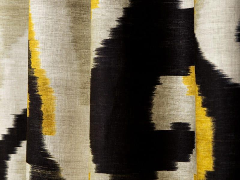Linen fabric with graphic pattern ARTWORK - Dedar
