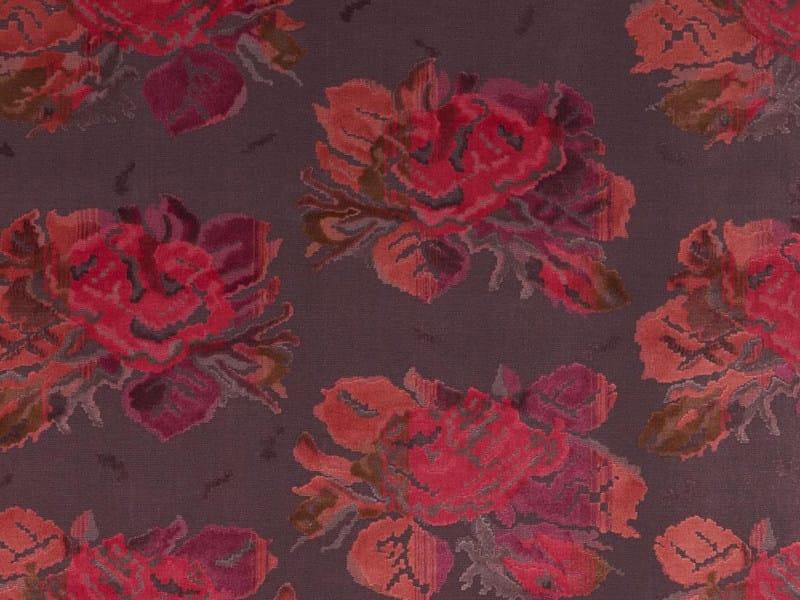 Jacquard velvet fabric with floral pattern KARABAGH - Dedar