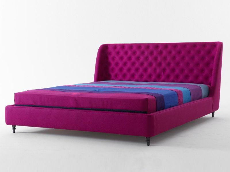 Bed with upholstered headboard CHLOE | Bed - Nube Italia