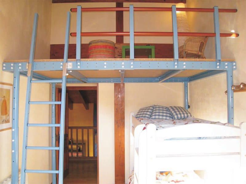 Soppalco in acciaio t8 soppalco svelt for Soppalco garage di stoccaggio fai da te