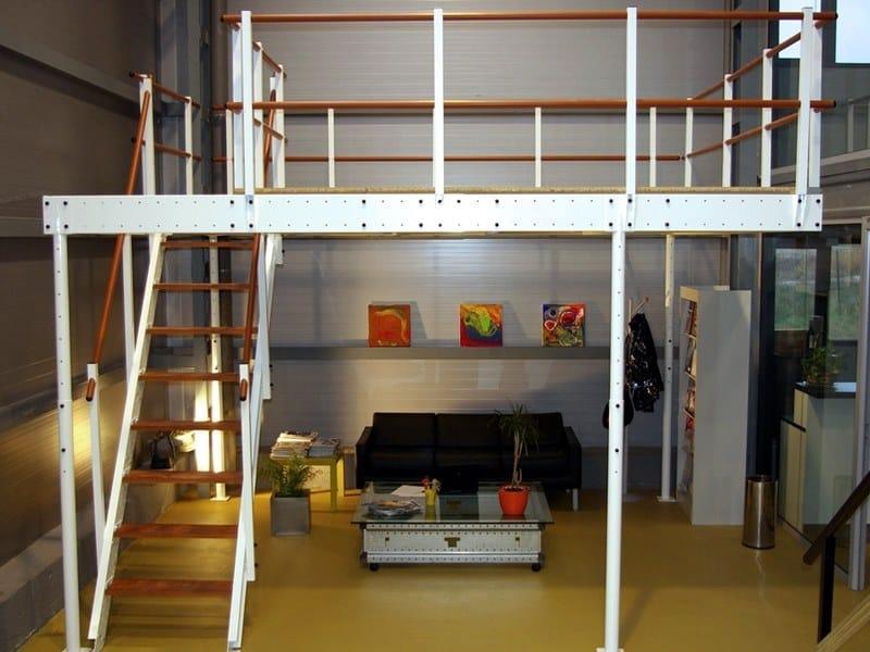 Soppalco in acciaio t15 soppalco svelt for 2 piani di garage per auto con soppalco