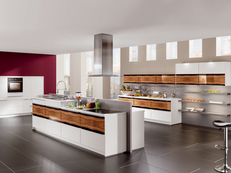 Lacquered kitchen with island HIGHLIGHT 745 - Nobilia-Werke