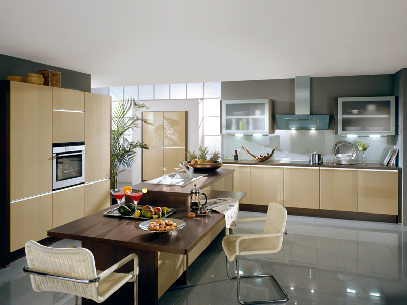 Lacquered kitchen with island PRIMO 640 - Nobilia-Werke