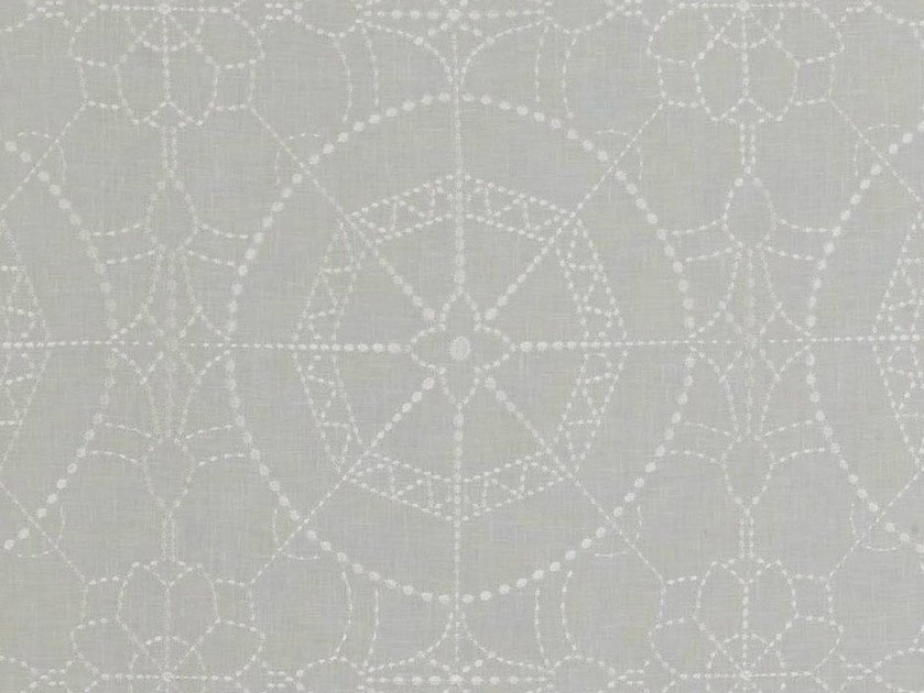 Washable sheer fabric for curtains ARABESQUE by Dedar