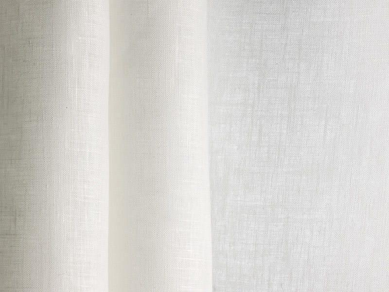 Solid-color linen fabric for curtains SOBRIO by Dedar