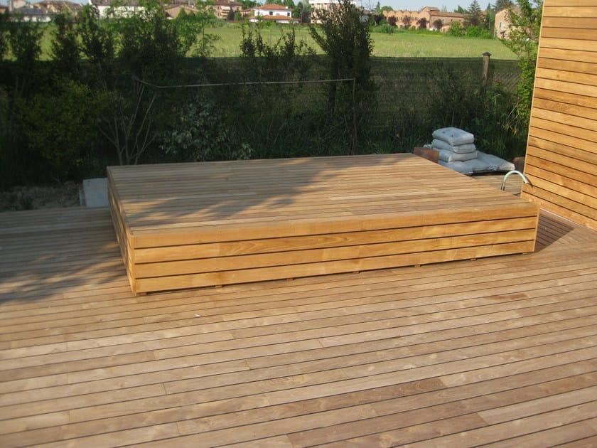 Listoni in legno per pavimenti e rivestimenti TEAK - Ravaioli Legnami