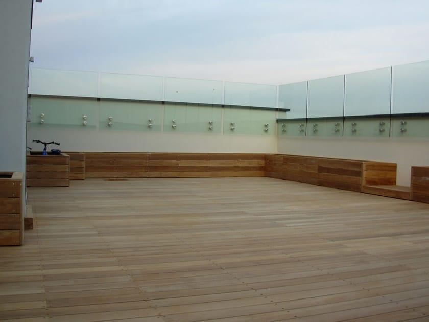 Listoni in legno per pavimenti e rivestimenti teak - Rivestimento terrazzo ...