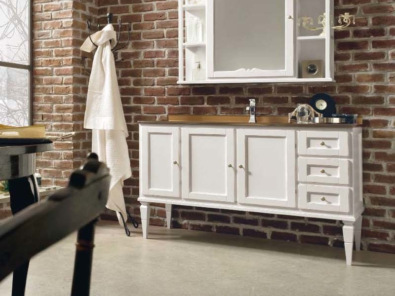 Wooden vanity unit with doors with drawers YORK 4 | Vanity unit by Cerasa