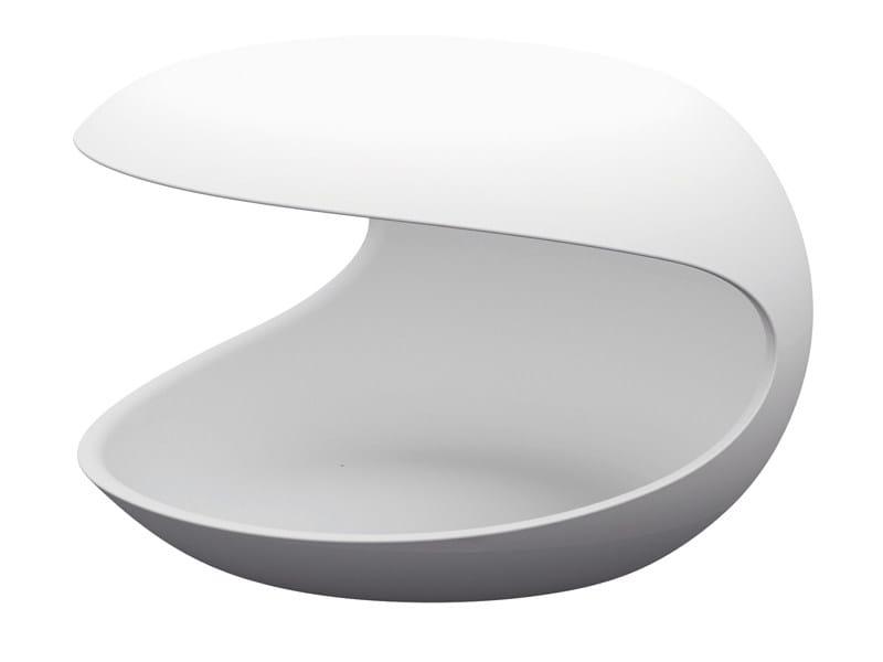Cristalplant® coffee table / bedside table WHITE SHELL by Zanotta