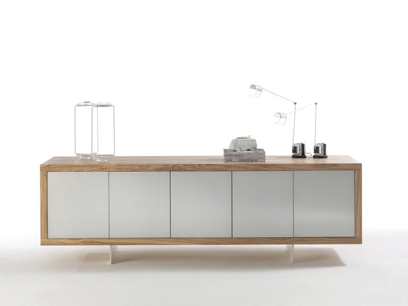 Wood and glass sideboard MADERNO - Riva 1920