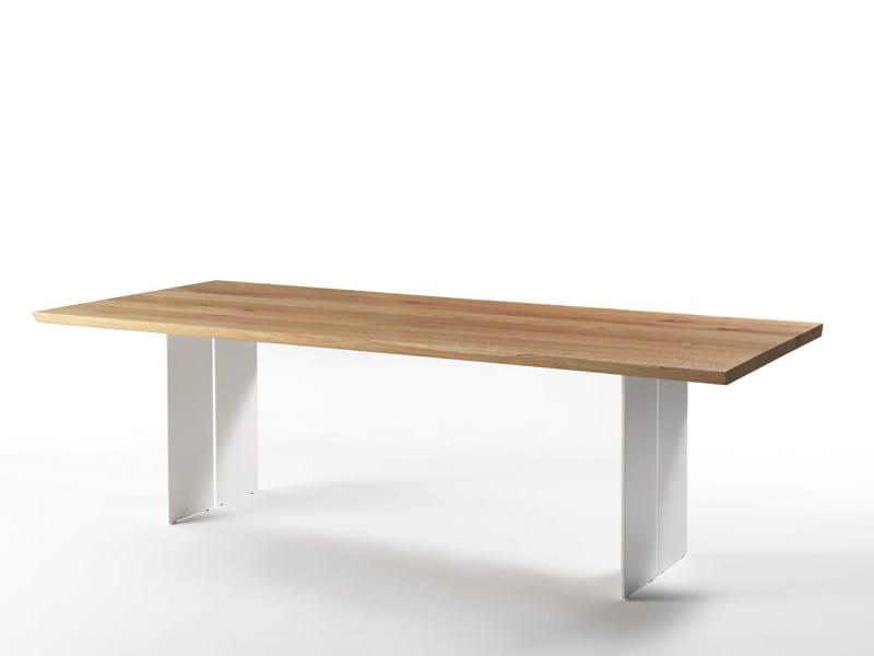 Rectangular oak iron table NATURA NATURAL SIDES - Riva 1920