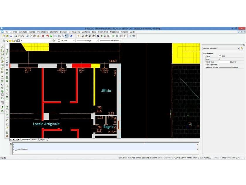 Disegno tecnico cad 2d 3d bricscad by emicad di emiliano for Software per disegno 3d