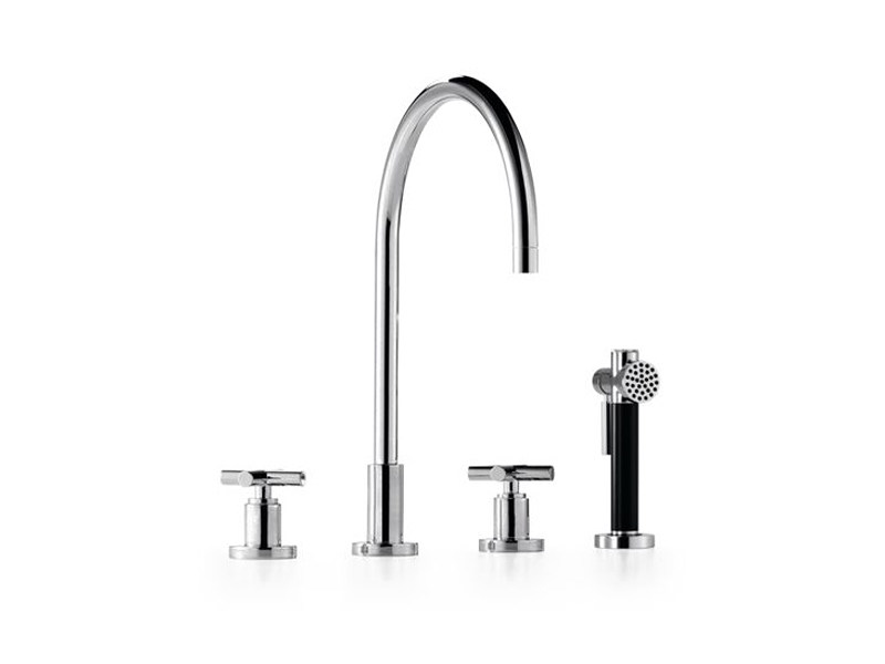 3 hole kitchen tap with spray 20 815 892 | Kitchen tap with spray - Dornbracht