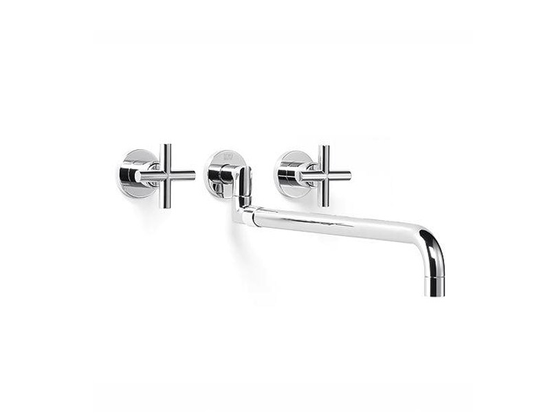 Wall-mounted kitchen tap with pull out spray 36 819 892 | Wall-mounted kitchen tap - Dornbracht