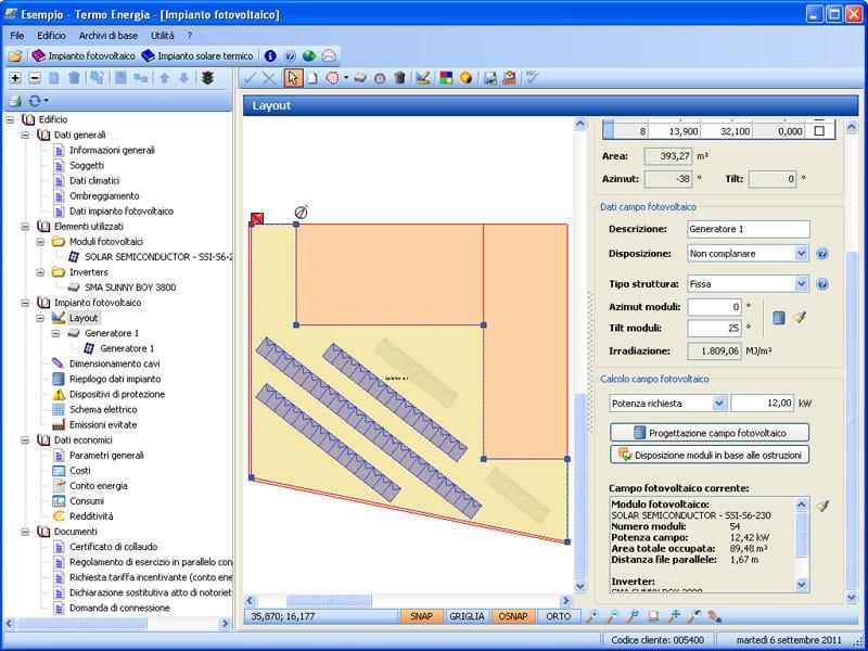 TERMO ENERGIA - Layout impianto fotovoltaico