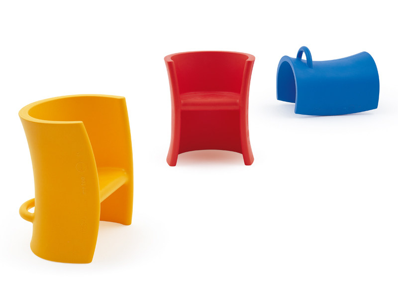Polyethylene chair / rocking horse TRIOLI by Magis