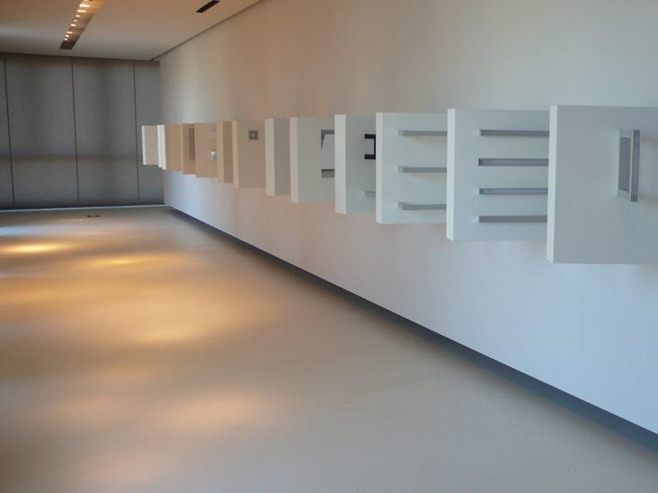 Ecological recycled material wall/floor tiles OLTREMATERIA® by Oltremateria