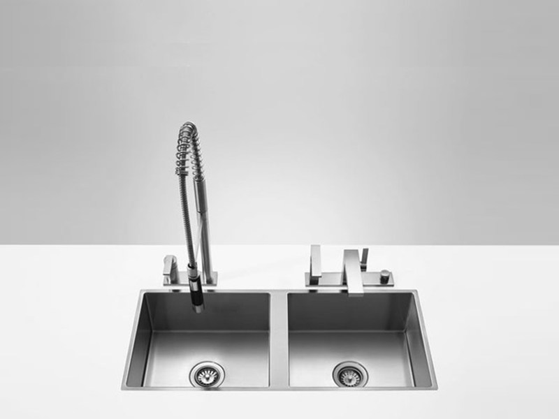 2 bowl flush-mounted sink 38 531 000 | Sink - Dornbracht