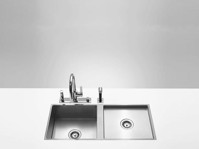 2 bowl flush-mounted sink 38 561 000 | Sink by Dornbracht