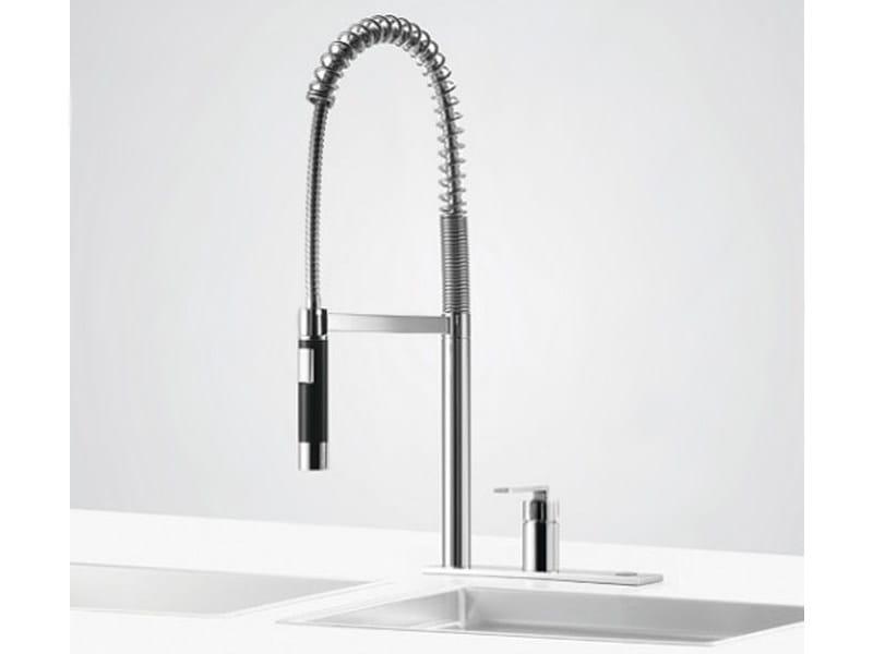 Kitchen mixer tap with pull out spray PREP SET - Dornbracht