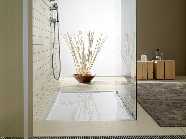 Flush fitting Quaryl® shower tray FUTURION FLAT | Shower tray - Villeroy & Boch