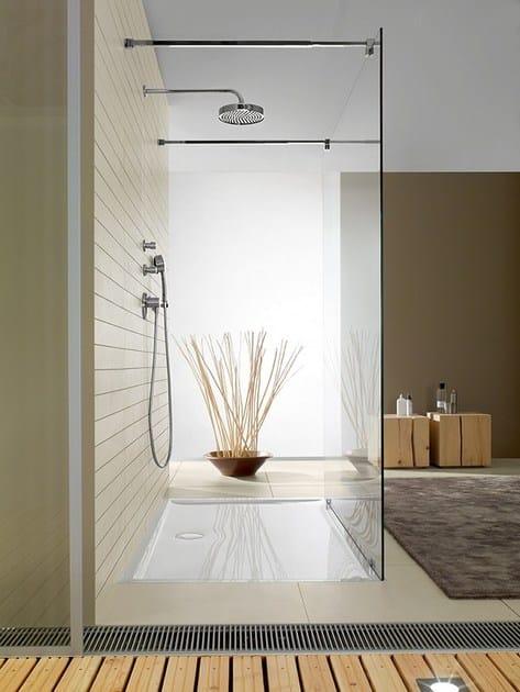 Piatto doccia filo pavimento in quaryl futurion flat - Piatto doccia filo pavimento opinioni ...