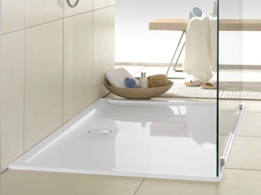 Piatto doccia filo pavimento in quaryl futurion flat - Piatto doccia 140x90 ...