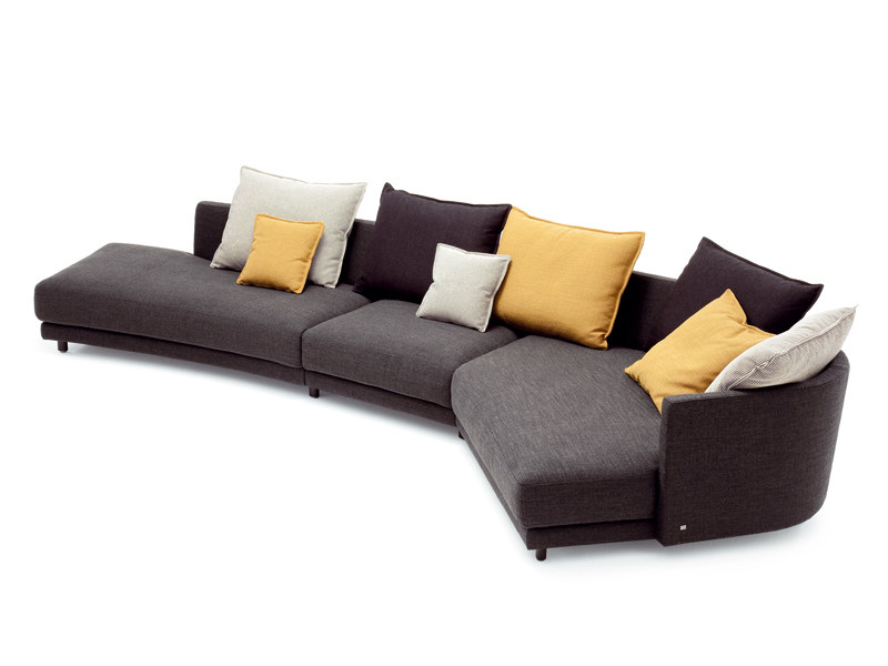 corner sectional fabric sofa onda collection by rolf benz. Black Bedroom Furniture Sets. Home Design Ideas