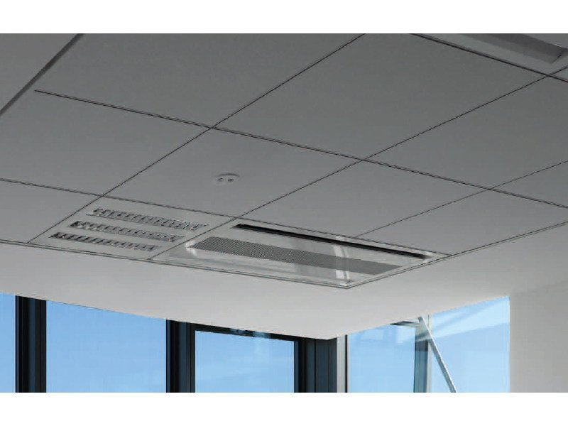 Sound absorbing ceiling tiles THERMATEX ALPHA ONE by Knauf Amf