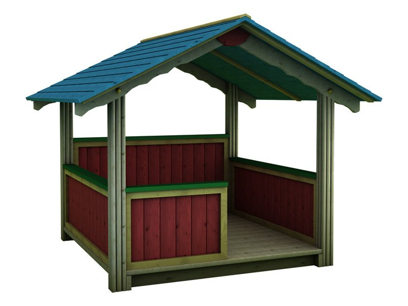 Playhouse for playground NIDO - INDUSTRIA LEGNAMI TIRANO