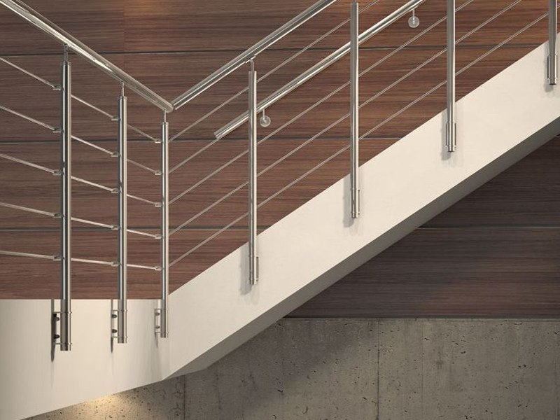 Stainless steel balustrade TUBE 42 by RINTAL