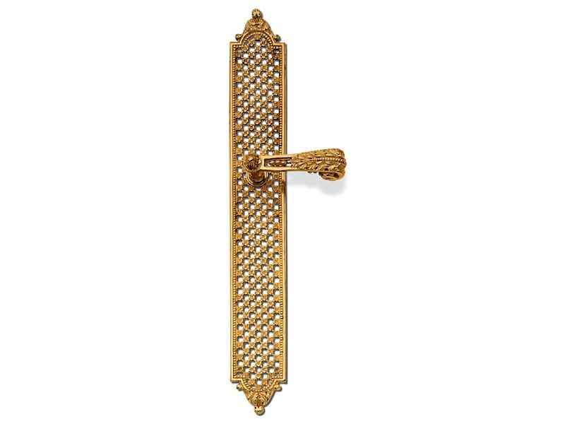 Louis XVI door handle on back plate C01610 | Louis XVI door handle - Enrico Cassina