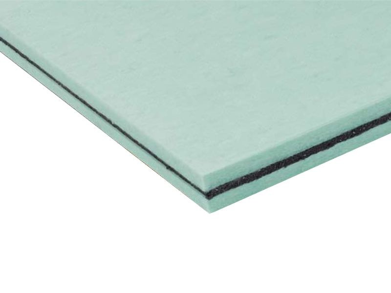 Sound insulation and sound absorbing panel in synthetic fibre TRYWALL - ISOLGOMMA