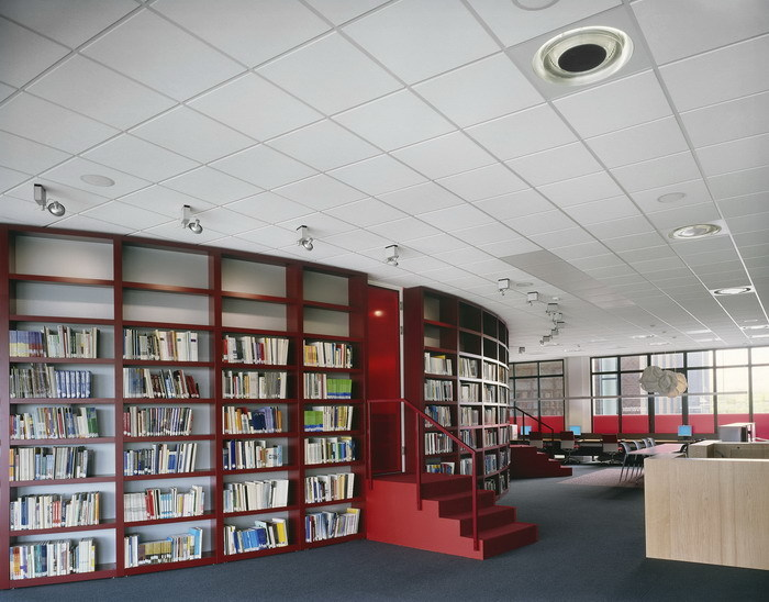 Acoustic rock wool ceiling tiles SAHARA by Armstrong
