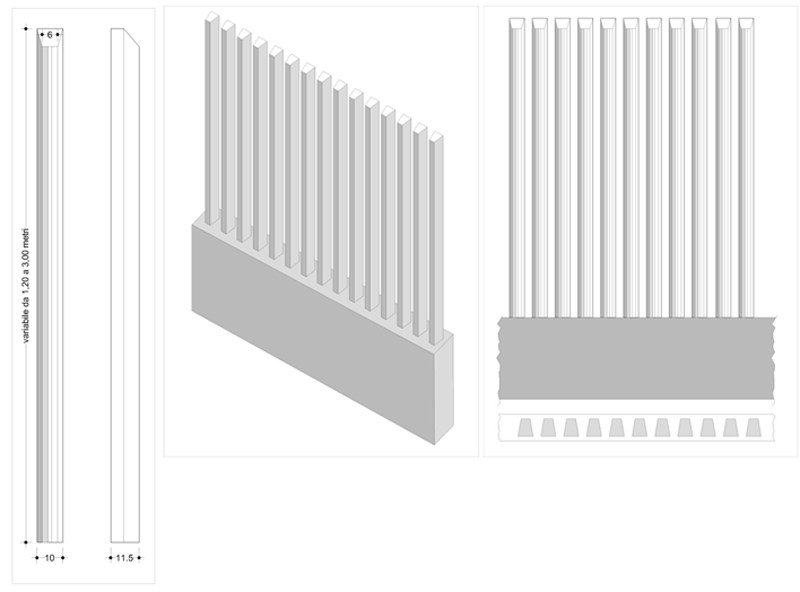 Precast reinforced concrete structural component Reinforced concrete structural component - F.LLI ABAGNALE