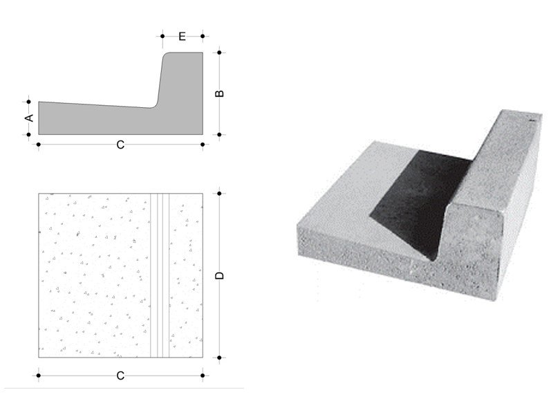 Concrete element for perimeter enclosure Concrete element for perimeter enclosure - F.LLI ABAGNALE