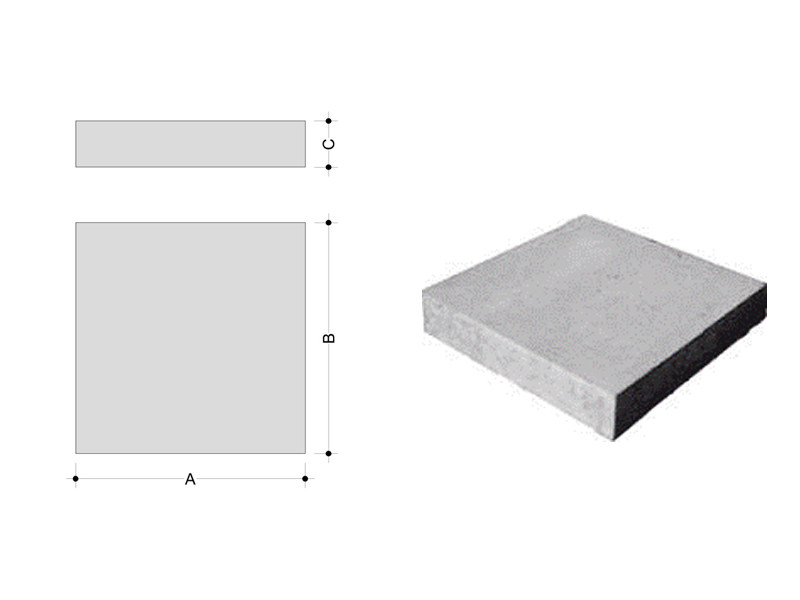 Concrete element for perimeter enclosure Curb - F.LLI ABAGNALE