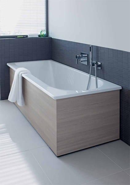 Vasca da bagno rettangolare in acrilico da incasso darling new vasca da bagno da incasso duravit - Vasca da bagno duravit ...