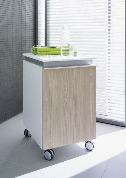 Storage bathroom cabinet with casters DARLING NEW | Bathroom cabinet - DURAVIT