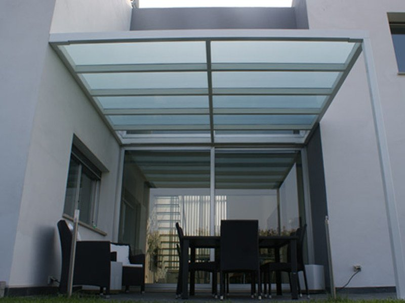 Glass and iron canopy LIVING by CAGIS