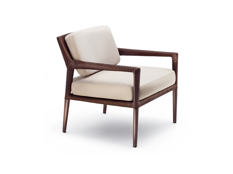 Garden armchair with armrests TRIBECA | Garden armchair - Dedon