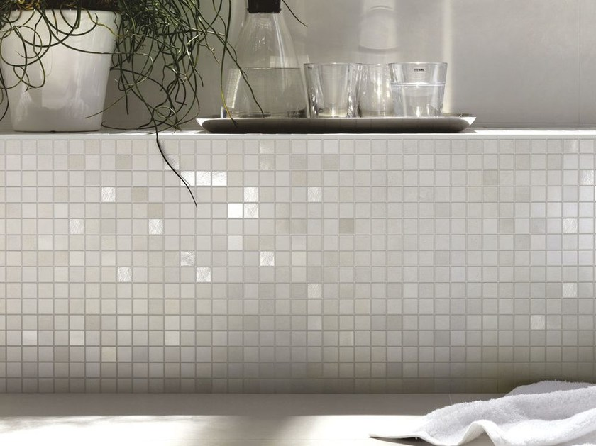 Porcelain stoneware Mosaic CONCRETA | Mosaic - MARAZZI