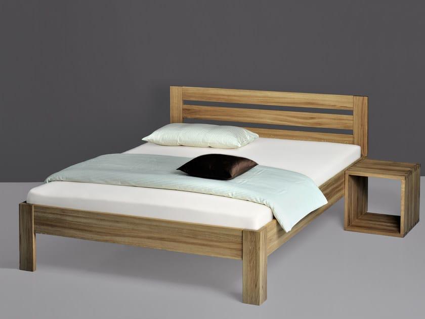 Cama de casal de madeira OMNI - Vitamin design